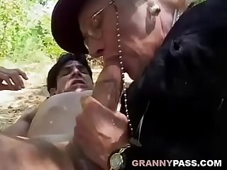 Granny Seduces Young Guy