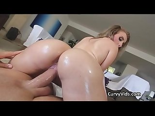 Phat ass white chick lubed and fucked