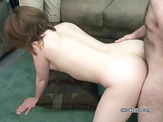 Cute veronica is getting pounded by an old dude
