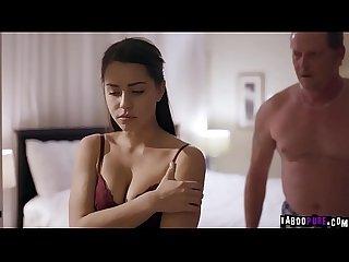 Bruntte Alina Lopez gobbles a mature cock!