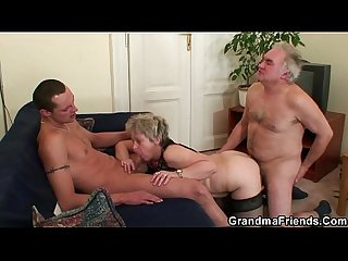 Hot threesome orgy after masturbating