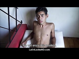 Shy skinny spanish latino Twink pov fuck from stranger making sex video for money