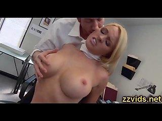 Blonde whore krissy lynn fucked hard