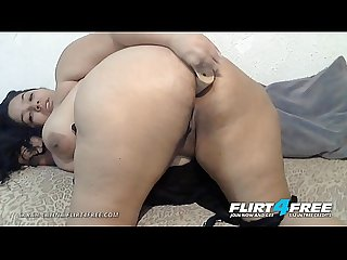 Sarah Latina - Flirt4Free - BBW Latina Plays with Her Big Beautiful Ass