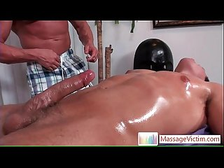 Dylan gets oiled and prepped for massage 3 by massagevictim