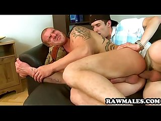 Uncut stud gets his tight ass pounded bareback