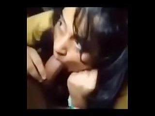 Desi teen girl sucking boyfriend's big dick