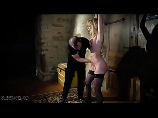 Petite girl is a perfect slave and endures pain from the whip