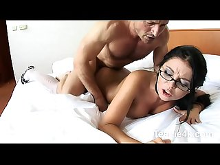 Teen maid loves to be seduced then pussy licked hardcore fucked by huge cock