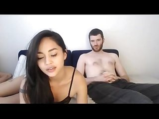 Asian girl and boyfriend with big dick on cam basedcams period com