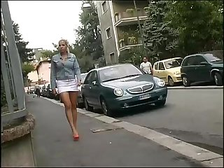 A blonde gets home and she s followed and banged by a criminal