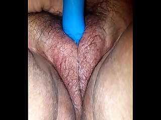 My bbw wife trying her new dildo on christmas Eve