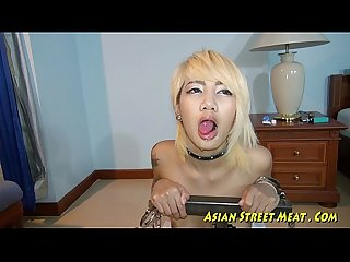 Tall thai girl pleasure of tight anus