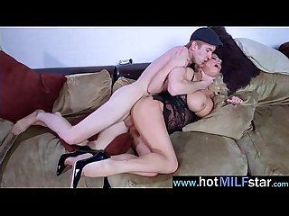Hot milf Michelle thorne act like a star riding huge monster cock in sex tape video 25