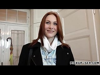 European redhead girl Alice Marshall pounded for money