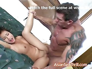 Japanese hard fucked by older guy
