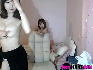 Korean hotties having some fun on webcam teen4cams com