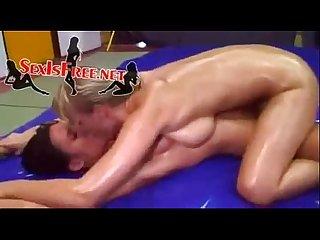 Lesbian oiled Trib