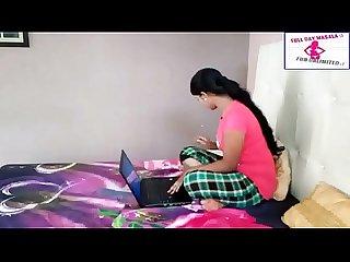 Telugu actress uma girl secretly watching bf and gets tempted nips visi thru new