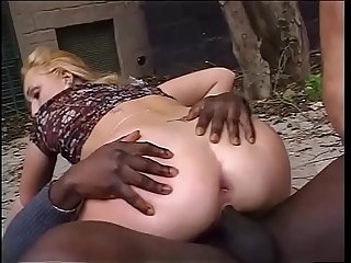 Interracial double penetration in black white