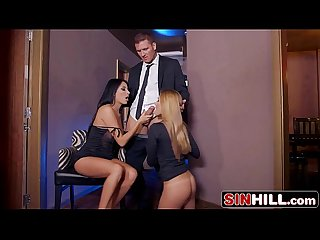 Double Blowjob by stunning beauties anissa kate subil arch
