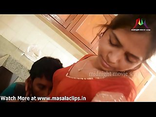 South indian cute wife illegal romance at kitchen