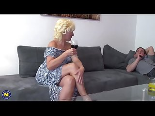 Naughty mature lady fucking and sucking