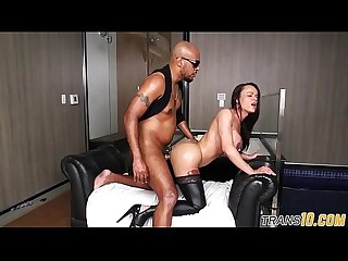 Bigtitted ts babe gets interracially drilled