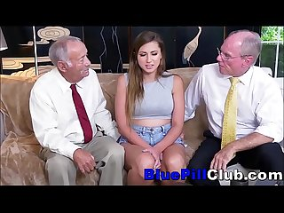 Big Tits Teen Whore Sucks & Fucks 2 Old Geezers