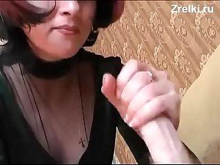 Mature busty mommy and young russian boy