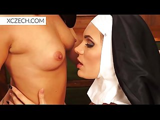 Catholic nuns praying in the sexual embrace