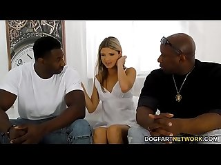 Office Girl Gina Gerson Gets DP'd By Big Black Cocks