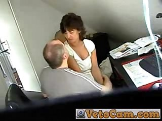 Mature fucked in the office hidden cam
