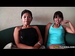 Two Filipina Bargirls Sucking One White Dick