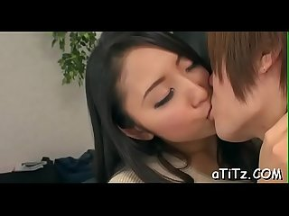 Naughty big breasts japanese blowjob