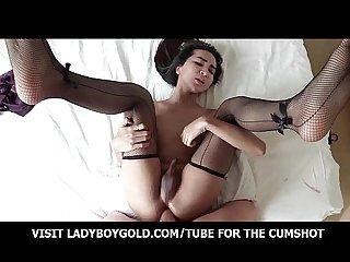 Ladyboy sprite purple Babydoll barebacking