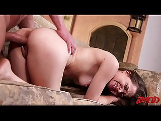 Tight Little Brunette Teen Tiffany Star Takes What Daddy Gives