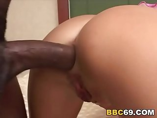 Bbc slut alissa gives massage before anal sex