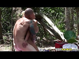 Babe gets fucked in the jungle