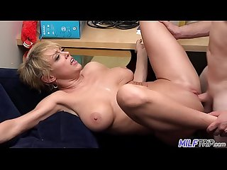 MILF Trip - Super horny blonde big-boobed MILF can't get enough cock - Part 1