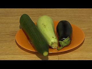 Organic anal masturbation with wide vegetables, extreme inserts in a juicy ass and a gaping..
