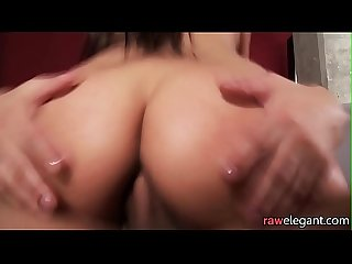 Creampied glam eurobabe fucked after massage