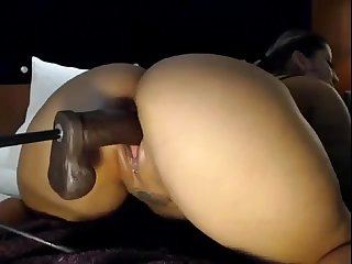 Ghetto slut gets pussy pounded by machine dildo britishcamsluts net