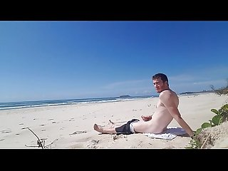 Beach jerk off 2