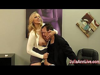 Julia ann milks stepson before his date