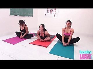 Kendra lust teaches yoga