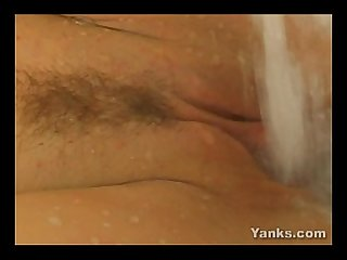 Hot bodied jane masturbating her trimmed quim