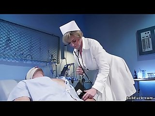 Busty Milf nurse dominates male patient