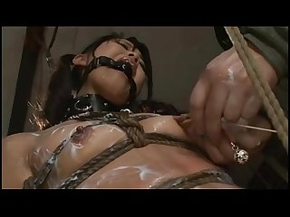 Asian cunt suzu wakana gets bondage tortured and whipped like a whore