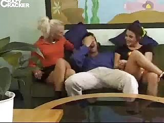 Two german chicks get fucked with one man